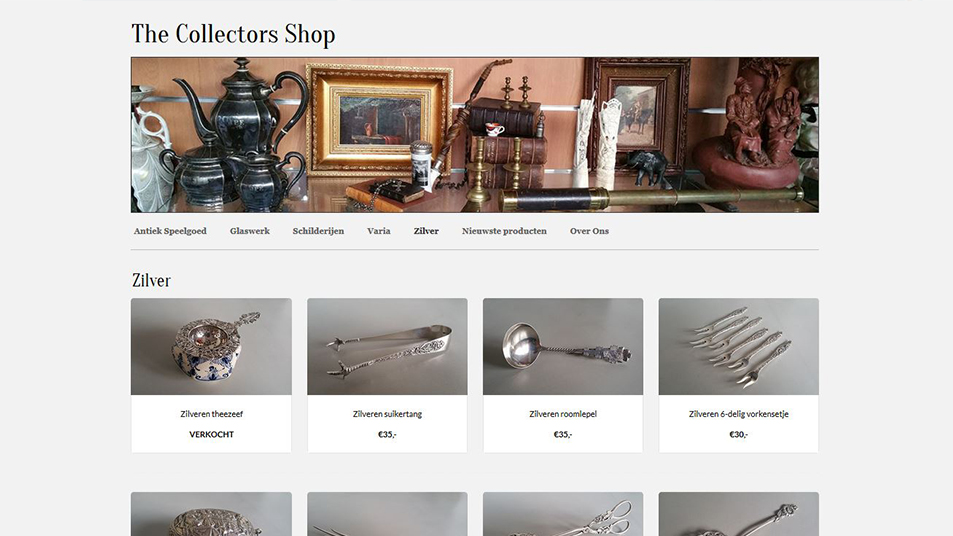 The Collectors Shop Productoverzicht